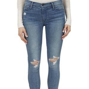 NWT Black Orchid Noah Skinny Fray Jeans in Indigo